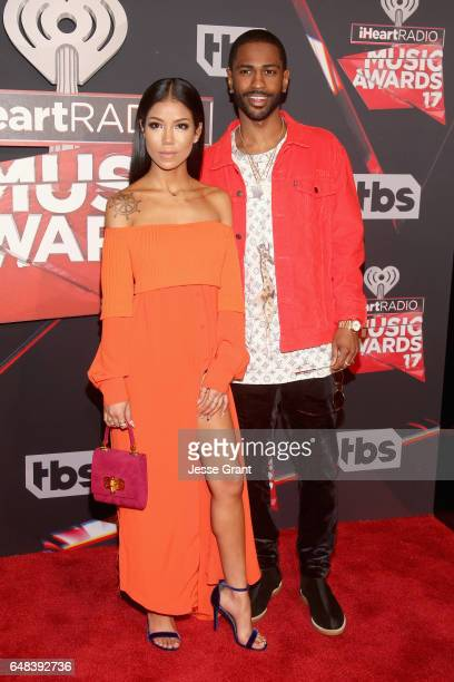 Singer Jhene Aiko and rapper Big Sean attend the 2017 iHeartRadio Music Awards which broadcast live on Turner's TBS TNT and truTV at The Forum on...