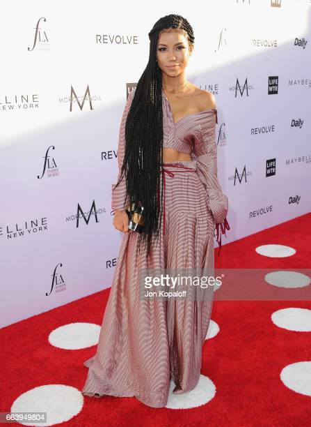 Singer Jhene Aiko arrives at the Daily Front Row's 3rd Annual Fashion Los Angeles Awards at the Sunset Tower Hotel on April 2 2017 in West Hollywood...