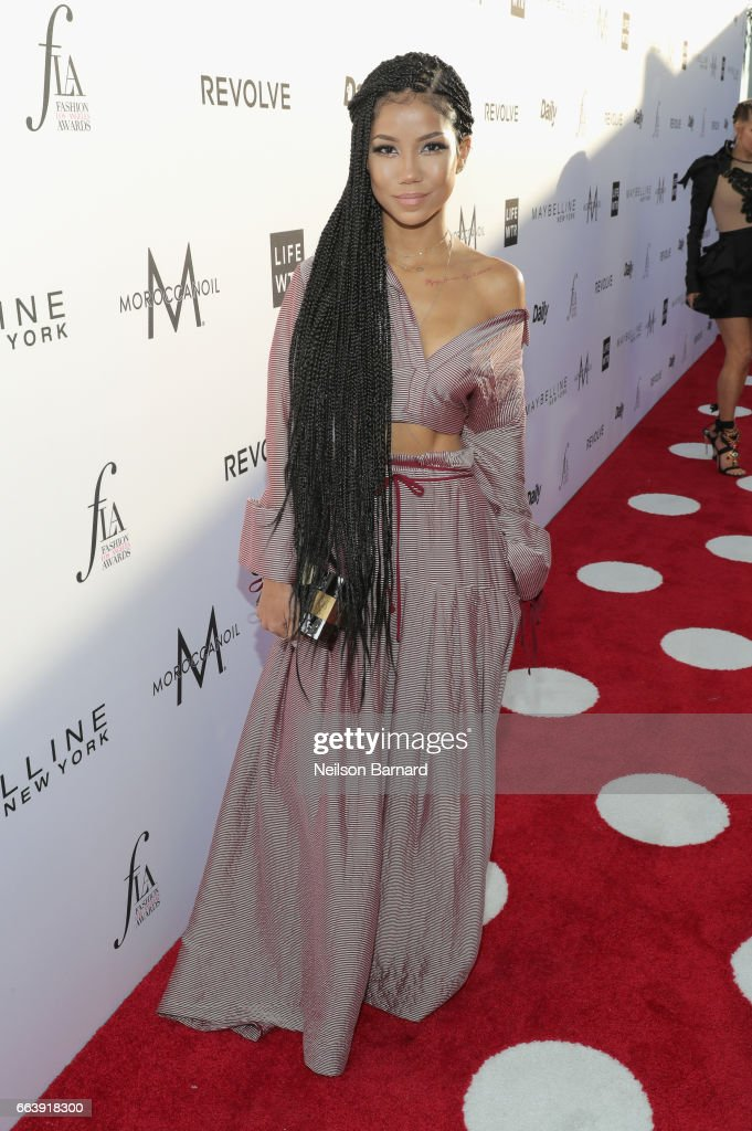 Singer Jhene Aiko attends the Daily Front Row's 3rd Annual Fashion Los Angeles Awards at Sunset Tower Hotel on April 2, 2017 in West Hollywood, California.