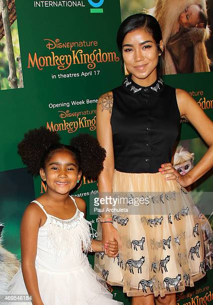 Singer Jhene Aiko attends the premiere of Monkey Kingdom at the Pacific Theaters at the Grove on April 12 2015 in Los Angeles California