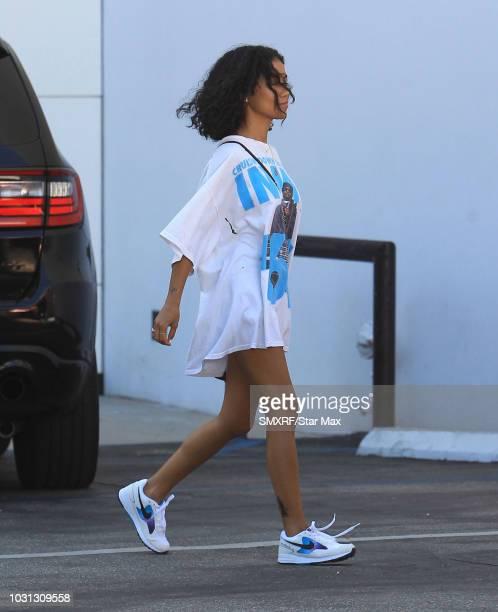 Singer Jhene Aiko is seen on September 10 2018 in Los Angeles CA