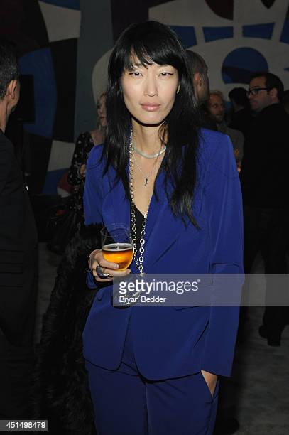 Singer Jihae Kim attends the premiere of David Guetta's new music video One Voice onto the front of UN headquarters in support of The World Needs...