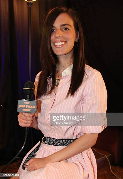Singer Jill Criscuolo visits 'The Jeff Foxx Radio Show' on August 20 2012 in West Orange New Jersey