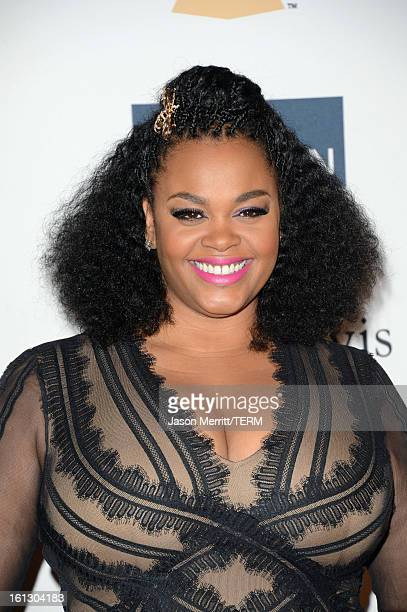 Singer Jill Scott arrives at Clive Davis The Recording Academy's 2013 PreGRAMMY Gala and Salute to Industry Icons honoring Antonio LA Reid at The...