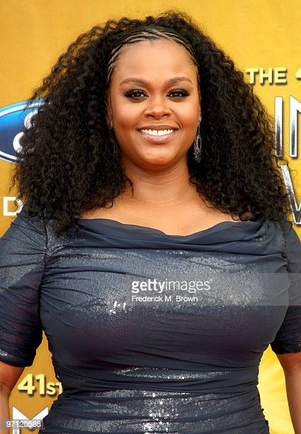 Singer Jill Scott arrives at the 41st NAACP Image awards held at The Shrine Auditorium on February 26 2010 in Los Angeles California