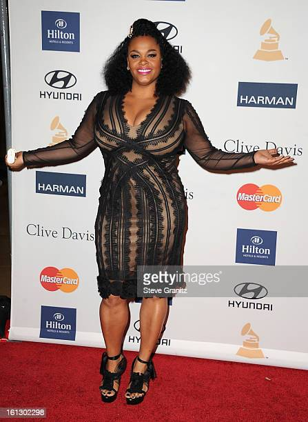 Singer Jill Scott arrives at the 55th Annual GRAMMY Awards PreGRAMMY Gala and Salute to Industry Icons honoring LA Reid held at The Beverly Hilton on...