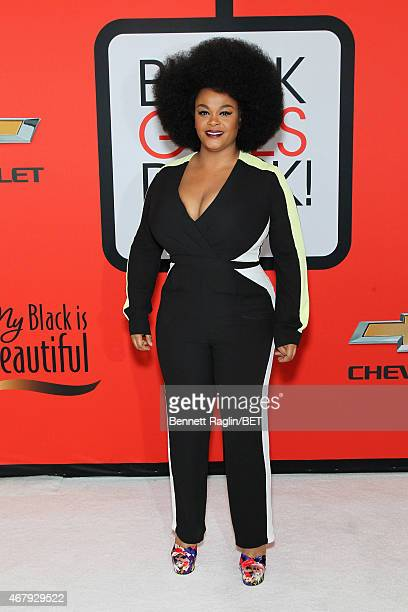Singer Jill Scott attends the BET's 'Black Girls Rock' Red Carpet sponsored by Chevrolet at NJPAC – Prudential Hall on March 28 2015 in Newark New...