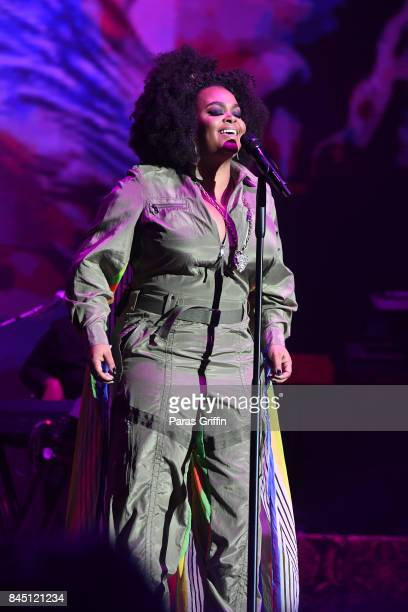 Singer Jill Scott performs onstage at 2017 ONE Music Fest at Lakewood Amphitheatre on September 9 2017 in Atlanta Georgia