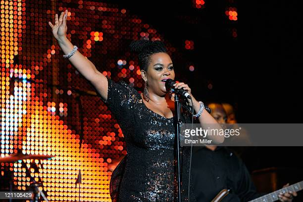 Singer Jill Scott performs onstage during the ninth annual Ford Hoodie Awards at the Mandalay Bay Events Center August 13 2011 in Las Vegas Nevada