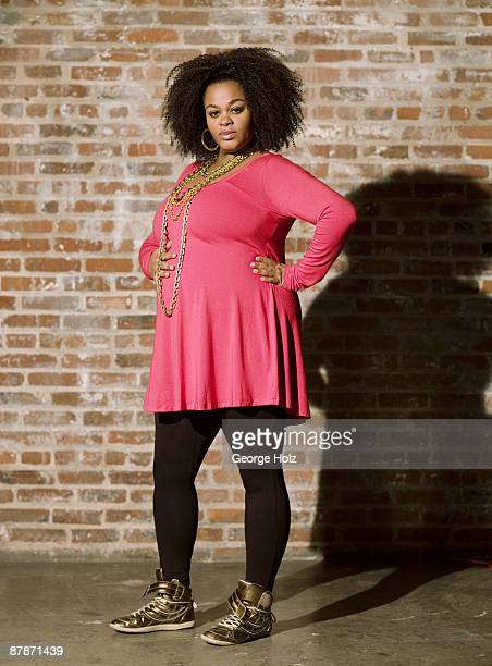 Singer Jill Scott poses at a portrait session for People Magazine on February 8 2009 in New York City
