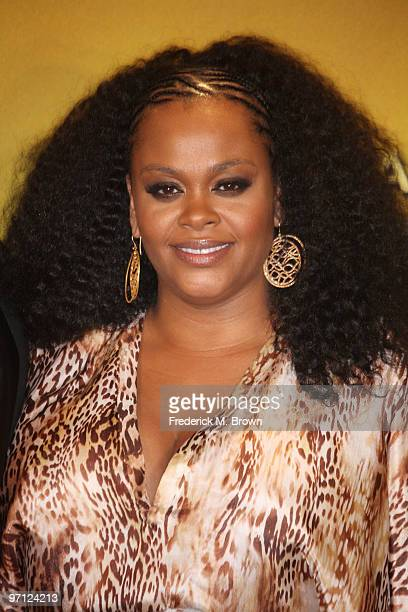 Singer Jill Scott poses in the press room during the 41st NAACP Image awards held at The Shrine Auditorium on February 26 2010 in Los Angeles...