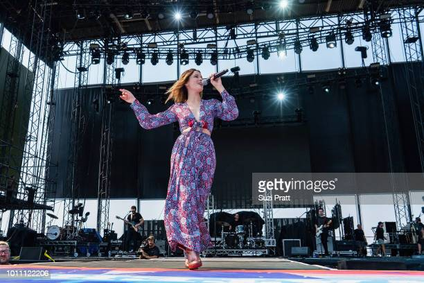 Singer Jillian Jacqueline performs at Watershed Festival at Gorge Amphitheatre on August 4 2018 in George Washington