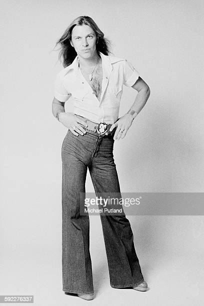 Singer Jim 'Dandy' Mangrum of American Southern rock group Black Oak Arkansas August 1976