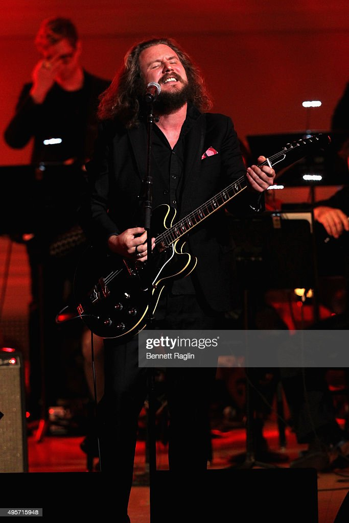 Singer Jim James performs onstage during Change Begins Within: A David Lynch Foundation Benefit Concert on November 4, 2015 in New York City.