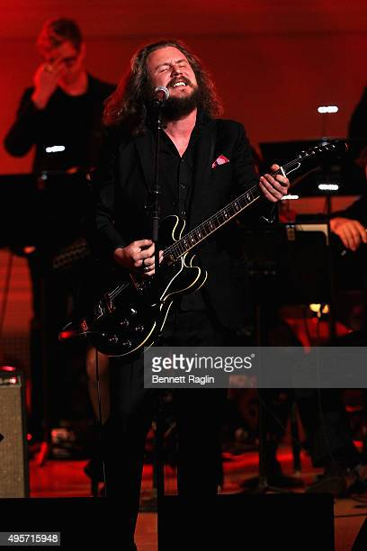 Singer Jim James performs onstage during Change Begins Within A David Lynch Foundation Benefit Concert on November 4 2015 in New York City