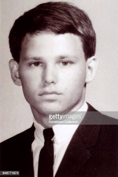 """Singer Jim Morrison of the rock and roll band """"The Doors' poses for his high school year book from Alameda High School in circa 1957 in Alameda,..."""