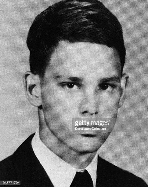 Singer Jim Morrison of the rock and roll band The Doors' poses for his high school year book portrait from George Washington High School in 1961 in...
