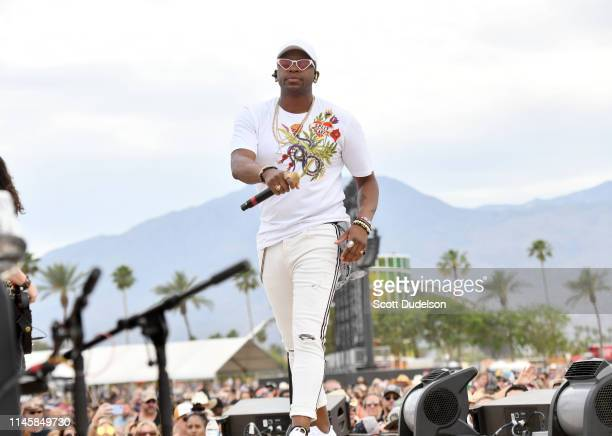 Singer Jimmie Allen performs onstage during Day 3 of the Stagecoach Music Festival on April 28 2019 in Indio California
