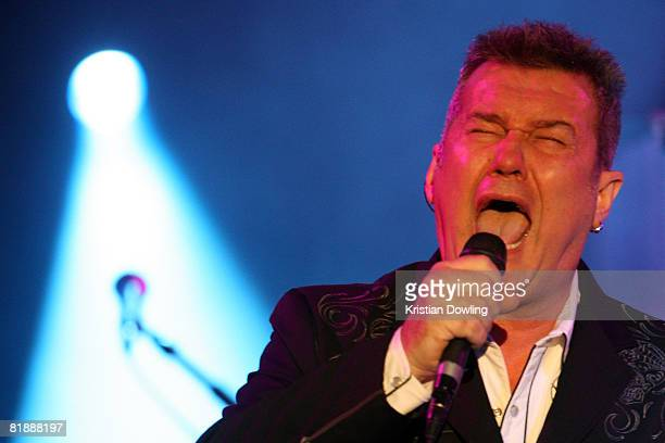 Singer Jimmy Barnes performs on stage at The Palms on July 10, 2008 in Melbourne, Australia.