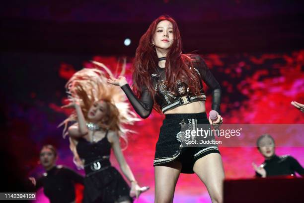 Singer Jisoo of BLACKPINK perform onstage during the 2019 Coachella Valley Music and Arts Festival on April 12, 2019 in Indio, California.