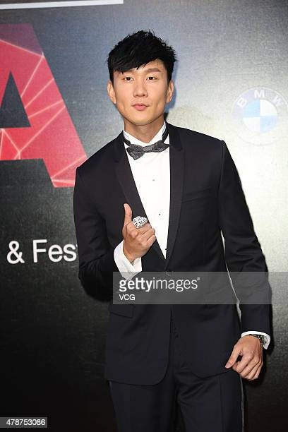 Singer JJ Lin arrives at the red carpet of 26th Golden Melody Awards 7 Festival on June 27 23015 in Taipei Taiwan of China