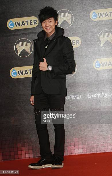 Singer JJ Lin arrives at the red carpet of the 22nd Golden Melody Awards at Taipei Arena on June 18 2011 in Taipei Taiwan of China