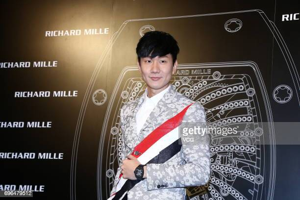 Singer JJ Lin attends the opening party of watch brand Richard Mille on June 15 2017 in Taipei Taiwan of China