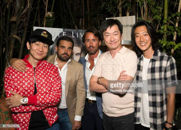 Singer JJ Lin CoFounder of Haute Media Group Seth Semilof art gallery owner Jay Rutland Founder of Purist Group Sean Lee and actor Harry Chang attend...