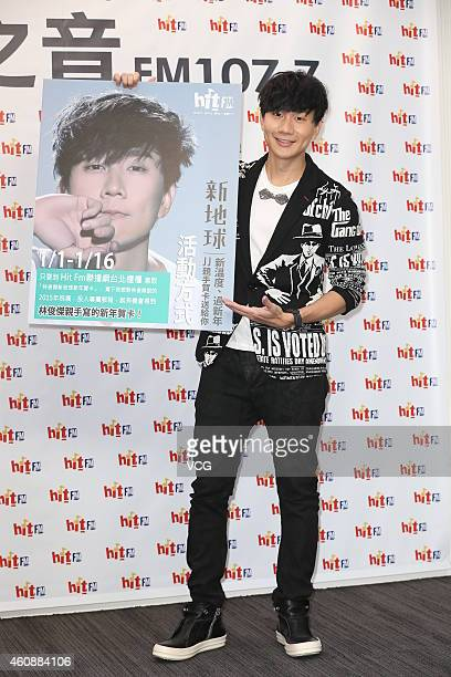 Singer JJ Lin promotes his new album on December 29 2014 in Taipei Taiwan of China