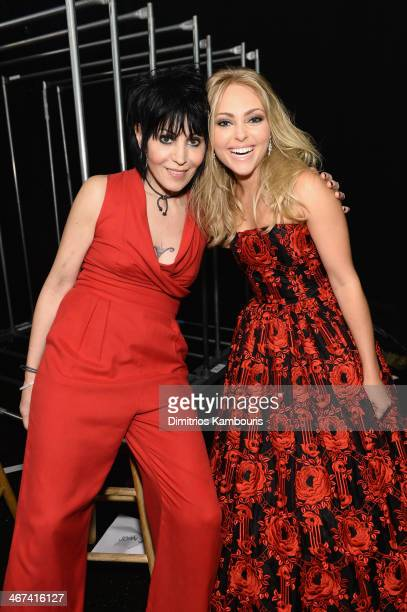 Singer Joan Jett and actress AnnaSophia Robb attend Go Red For Women The Heart Truth Red Dress Collection 2014 Show Made Possible By Macy's And...