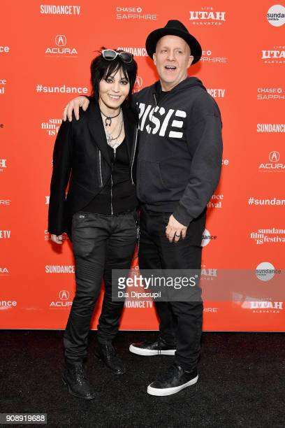 Singer Joan Jett and director Kevin Kerslake attend the 'Bad Reputation' Premiere during the 2018 Sundance Film Festival at The Marc Theatre on...