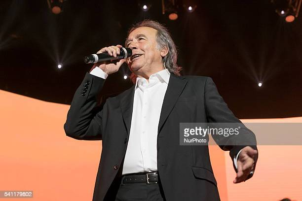 Singer Joan Manuel Serrat during the concert quotThe pleasure is oursquot in the Sports Palace of Madrid Spain June 18 2016