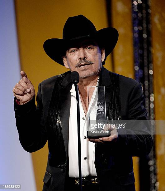 Singer Joan Sebastian receives Album of the Year Ranchero/Mariachi at the Billboard Mexican Music Awards at the Dolby Theatre on October 9 2013 in...