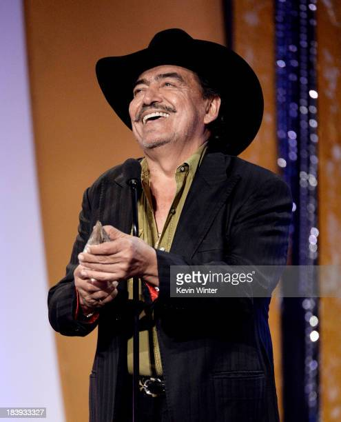 Singer Joan Sebastian speaks onstage at the Billboard Mexican Music Awards at the Dolby Theatre on October 9 2013 in Los Angeles California