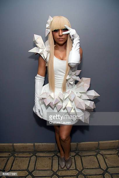"""Singer Joanne Stefani Germanotta """"Lady Gaga"""" poses at the Interscope, Geffen, and A&M Records Official American Music Awards After Party at..."""