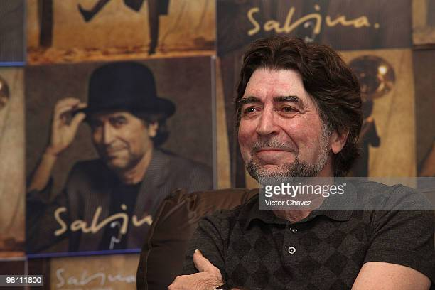 Singer Joaquin Sabina attends a photocall and press conference to promote his latest album Vinagre Y Rosas at Hotel Camino Real on April 12 2010 in...