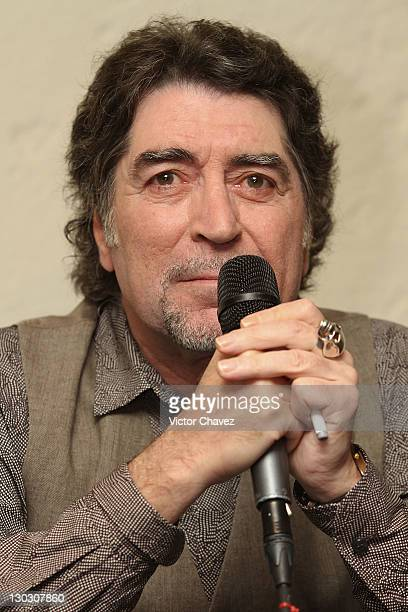 Singer Joaquin Sabina attends a press conference at the Hotel Camino Real on October 25 2011 in Mexico City Mexico