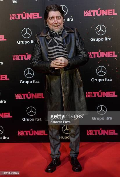 Singer Joaquin Sabina attends 'Los del Tunel' premiere at Capitol cinema on January 18 2017 in Madrid Spain