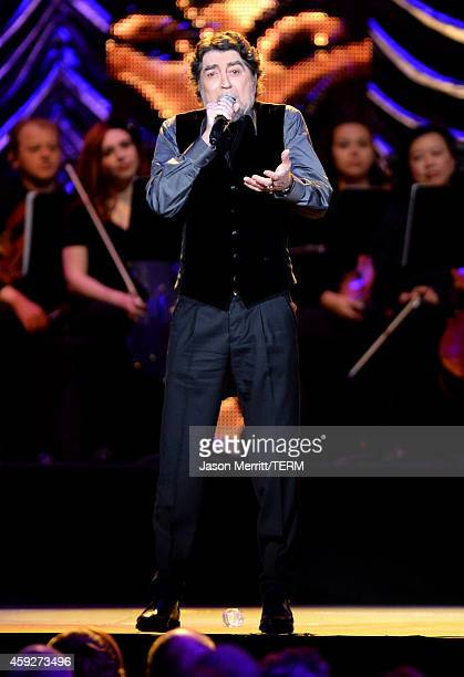 Singer Joaquin Sabina performs onstage during the 2014 Person of the Year honoring Joan Manuel Serrat at the Mandalay Bay Events Center on November...