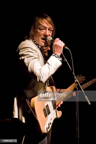 Singer Jochen Distelmeyer of the German band Blumfeld performs live on stage during a concert at the Festsaal Kreuzberg on September 22 2018 in...