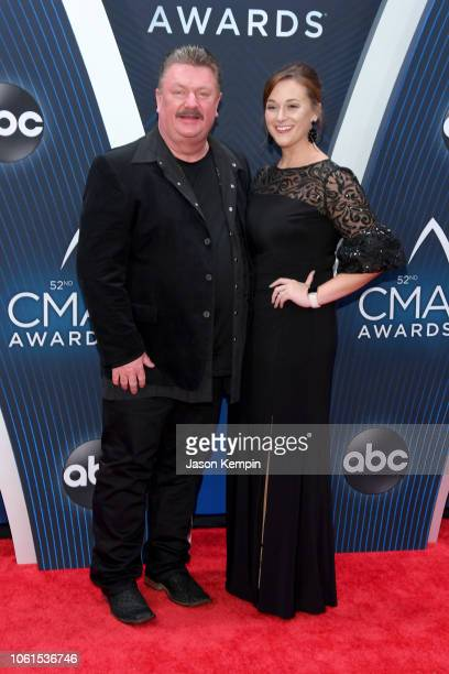 Singer Joe Diffie and Theresa Crump attend the 52nd annual CMA Awards at the Bridgestone Arena on November 14 2018 in Nashville Tennessee