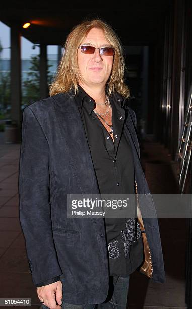 Singer Joe Elliott of Def Leppard arrives at RTE Studios for Tubridy Tonight May 10, 2008 in Dublin, Ireland.