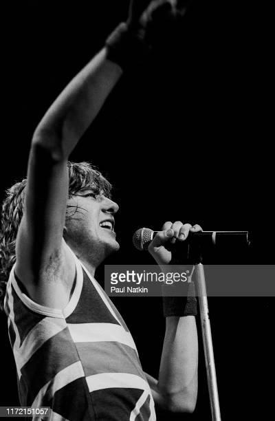 Singer Joe Elliott of Def Leppard at the UIC Pavilion in Chicago, Illinois, April 1, 1983.