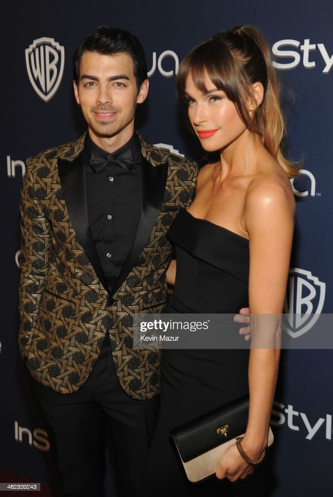 Singer Joe Jonas and Blanda Eggenschwiler attend the 2014 InStyle And Warner Bros. 71st Annual Golden Globe Awards Post-Party at The Beverly Hilton Hotel on January 12, 2014 in Beverly Hills, California.