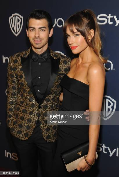 Singer Joe Jonas and Blanda Eggenschwiler attend the 2014 InStyle And Warner Bros. 71st Annual Golden Globe Awards Post-Party at The Beverly Hilton...