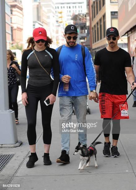 Singer Joe Jonas and Sophie Turner are seen on September 8 2017 in New York City