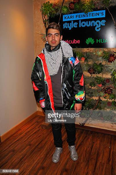 Singer Joe Jonas attends Kari Feinstein's Style Lounge on January 23 2016 in Park City Utah