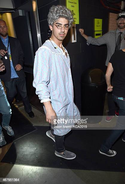 Singer Joe Jonas attends Nickelodeon's 28th Annual Kids' Choice Awards held at The Forum on March 28 2015 in Inglewood California