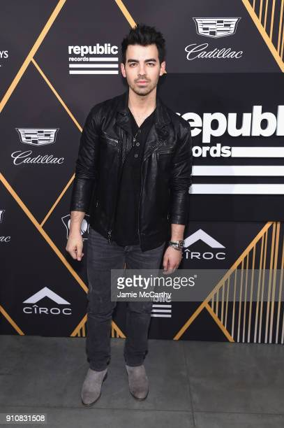 Singer Joe Jonas attends Republic Records Celebrates the GRAMMY Awards in Partnership with Cadillac Ciroc and Barclays Center at Cadillac House on...
