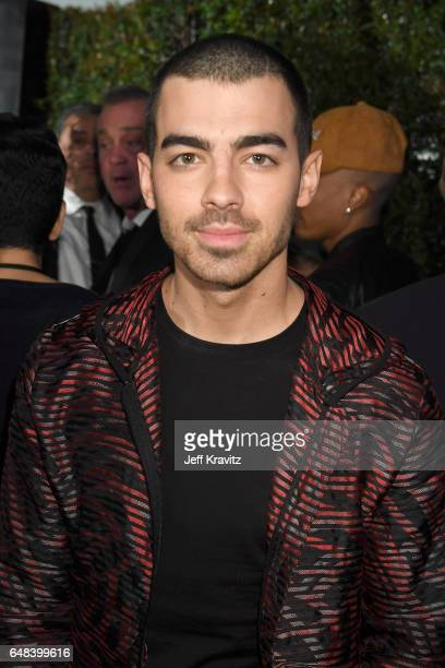 Singer Joe Jonas attends the 2017 iHeartRadio Music Awards which broadcast live on Turner's TBS TNT and truTV at The Forum on March 5 2017 in...